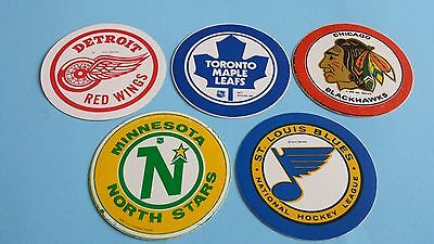 Vintage Nhl Sticker Lot Old Norris Division***north Stars, Maple Leafs, Blues***