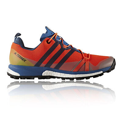 Adidas Terrex Agravic Mens Orange Cushioned Running Sports Shoes Trainers Pumps