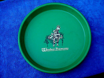 c Neat Color Rare Vintage Windsor Raceway Horse Race Track Serving Bar Food Tray