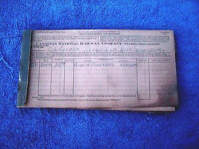 c Vintage Canadian National Railroad Company Express Department Receipt Book