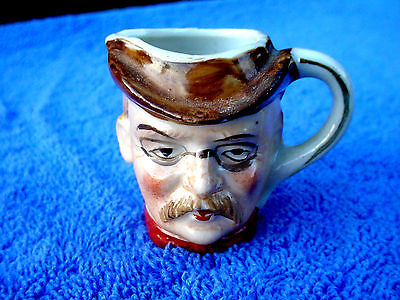 c Old Made In Japan Mini Trinket Character Head Cup Mug Tankard With Handle