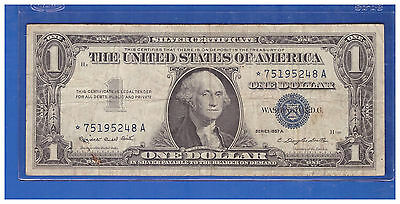 Vintage $1 1957A Star Silver Certificate One Dollars Old Money Washington  H458
