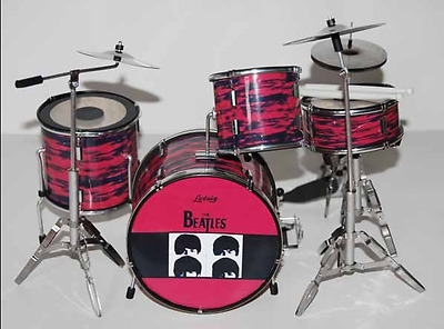 High Quality Miniature Drum Kit Set THE BEATLES