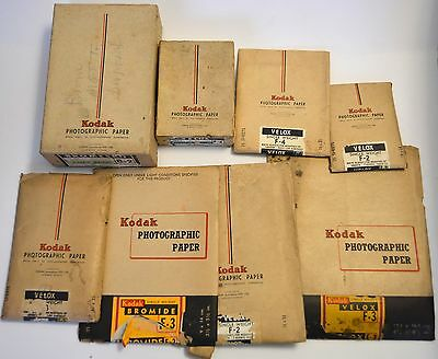 Vintage Kodak Photographic Paper Lot-Display or collectable-not usable.