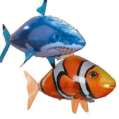 Air Swimmer RC Flying Inflatable Fish Shark Blimp Balloon Remote Control DIY