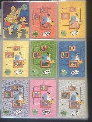 The Simpsons 10th Anniversary Celebration Complete Base Set + Chase Cards