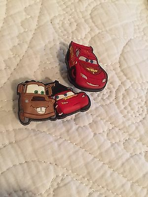 2 Disney Cars Lightning McQueen Shoe Croc Charm 95 And Tow Mater Charms ��❤️