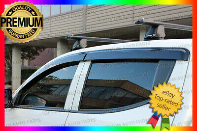 Optimum Mitsubishi Triton MQ Weather shields Window Visors Weathershields 15-17