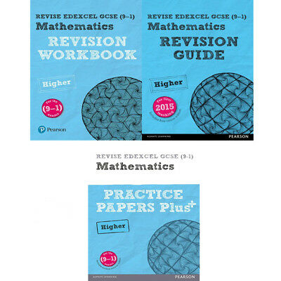 REVISE Edexcel GCSE Maths 2015 Series Collection 3 Books Set (9-1) New Paperback