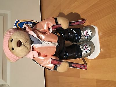 BNWT Brass Button Sports Ginger Skiing Teddy Bear