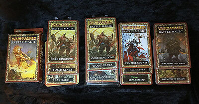 Warhammer Fantasy 8th ED Battle Magic Cards + SET OF 10 ARMIES - NEW SEALED OOP
