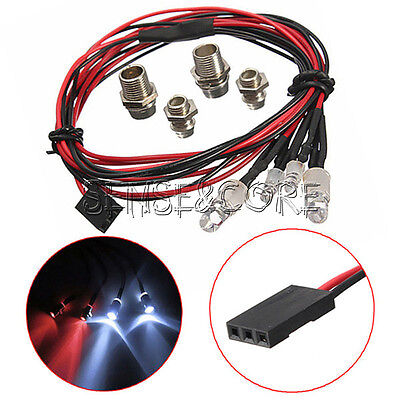 NEW Style RC On-Road Car LED Night 5mm White And 3mm Red Headlamps 4 LED Light