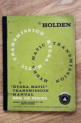 Holden GMH Hydramatic Transmission Service Manual Nasco