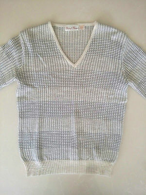 Vintage Ponti Of Florence Jumper White Grey Small