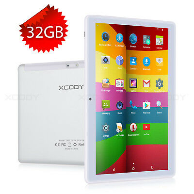 "32GB 10.1"" Quad Core Android 4.4 Unlocked 3G Dual Sim Phablet HD Tablet PC XGODY"