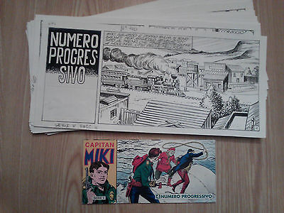 ITALIAN WESTERN FUMETTI Capitan Miki ORIGINAL STRIP ART COMPLETE ISSUE 32 pages