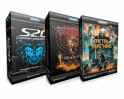 Toontrack Superiore Drummer Metal Bundle. Con Metal Foundry & Metal Machine