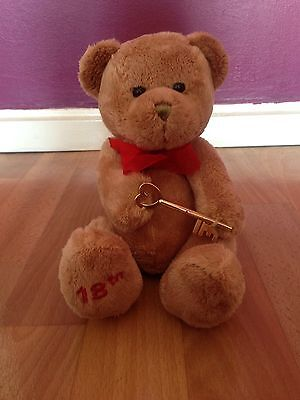 Brown Birthday Bear For 18th