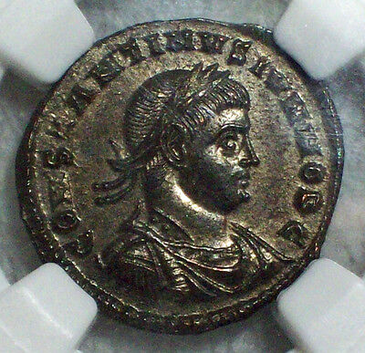 NGC MS PERFECT 5/5 Strike & Surface ROMAN EMPIRE Constantine CAESER 337-340 AD