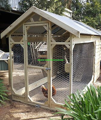 Aust. Built & Designed Extra Large Chicken Coop 10+Chooks 3.5X 1.6 Wx 2Mtr Tall