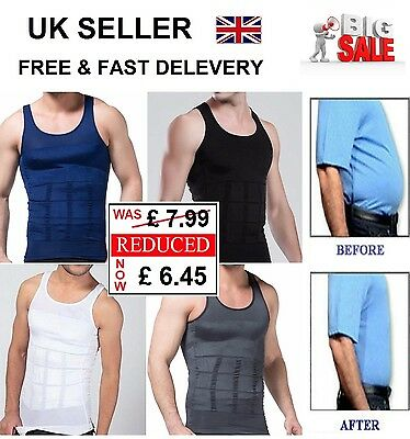 Mens Slimming Body Slim Lift Shaper Belly Buster Vest Compression