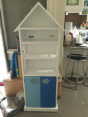 White wooden children's cupboard and shelves, absolutely gorgeous, Reduced!!!