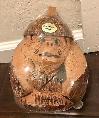 Hawaii/ Hawaiian Coconut Bank 8 Inches High New