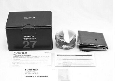 NEW BOX FUJIFILM FUJINON XF 27mm F/2.8 F2.8 LENS BLACK