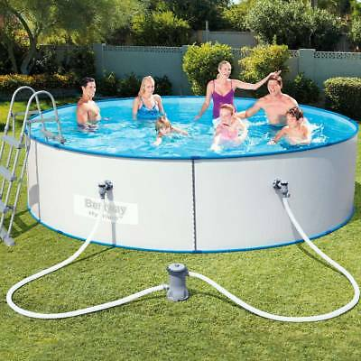 Bestway swimming pool 56598 427x84cm schwimmbecken frame for Pool stahlwand