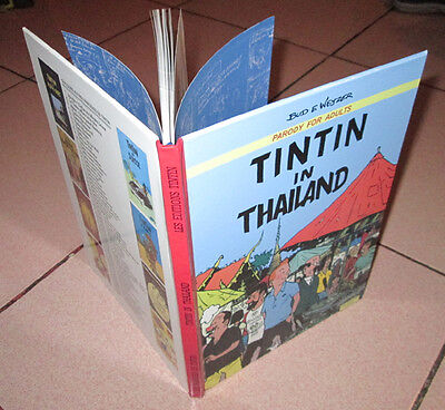 TINTIN in THAILAND,funny RARE parody 62pa.A4 with 32 IN COLOR!!! Numérotée 20/30