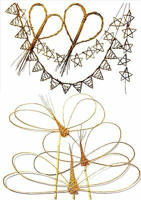 Make 3 willow dragonflies and Hearts, Stars and Bunting, 2  kits for Beginners.