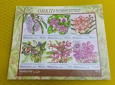 Malaysia MS Miniature Sheet Unusual Orchid Iridescent Infra Red Ink Imperforate