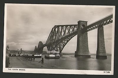 Old  Real Photo, The  Forth Bridge And Old Ferry Postcard.   76