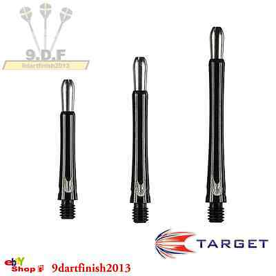Target Grip Style Black Aluminium Stems/Shafts with Replaceable Tops