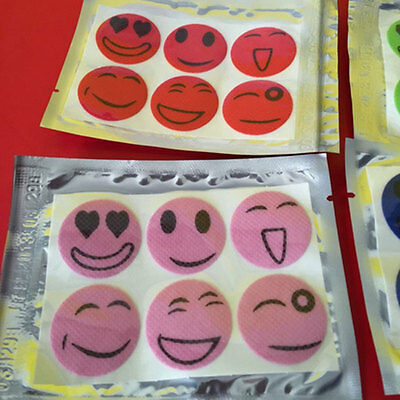 10Pack Smiley Face Stickers Mosquito Bug Repellent Patches Camping New