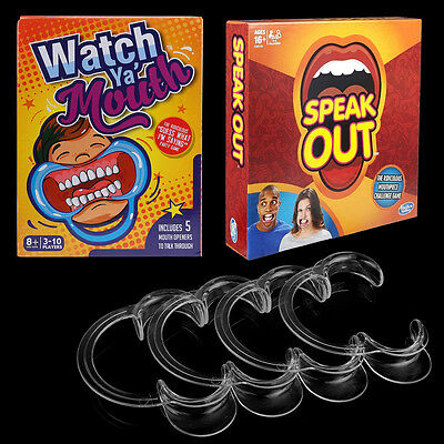 Speak Out Watch Ya' Mouth Board Game Funny Mouthpiece Kid Xmas Gift Family Game
