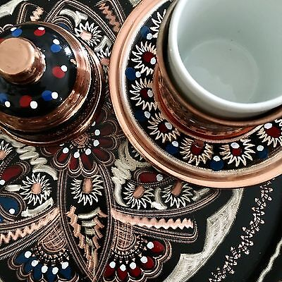 Vintage Turkish Coffee Set For Two