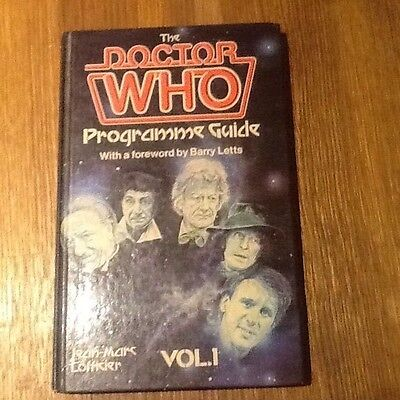 Doctor Who hardback; The Doctor Who Programme Guide Volume 1