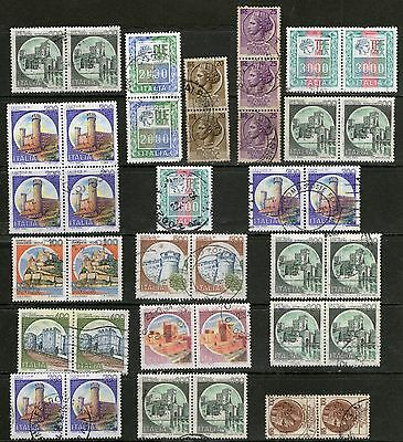 DMB - Italy Stamps -  Pairs, Blocks & Vertical strips  - Used