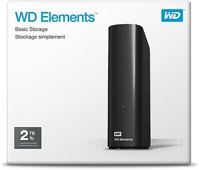 Hard Disk Esterno 3,5 Usb 3.0 2000Gb 2Tb Western Digital Elements