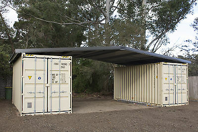 Shipping container roof PodRoof cover shelter kit suits 2 x 20ft Cheap Shed