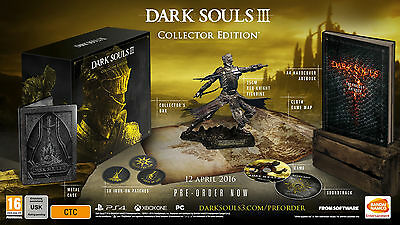 Dark Souls 3 Edition Collector PS4 NEW NEUF SOUS BLISTER ! + T-shirt