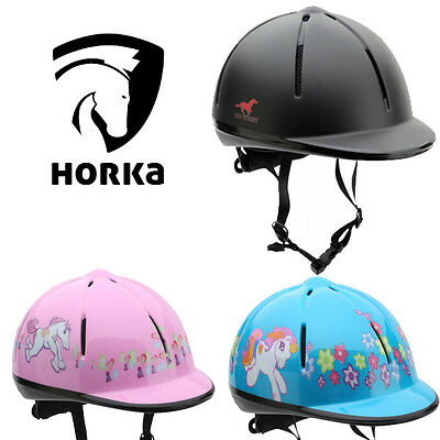 Horka Red Horse Childrens Riding Safety Helmets - CE/EN1384 certified