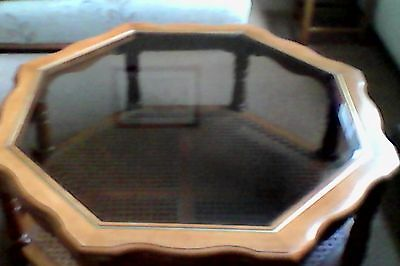 Hexagonal Coffee Table With Glass Top
