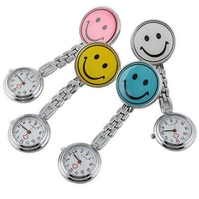 Mini Cute Stainless Steel Fashion Smiley Face Nurse's Pocket Watch Fob Gift DG0