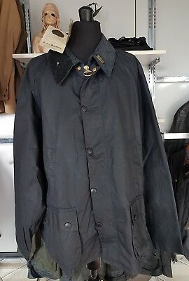 Barbour Bedale Classic Vintage Waxed Jacket Blue C52 132cm W/Pile New With Tags