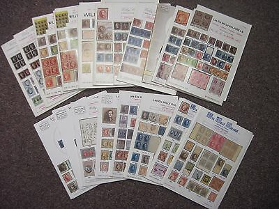Willy Balasse Ventes Pubiques Stamp Auction Catalogue Guide Books x19 1977-1997