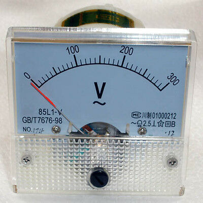 AC 300V Analog Panel Voltmeter Volt Voltage Meter Gauge 85L1 Class 2.5 AC 0-300V