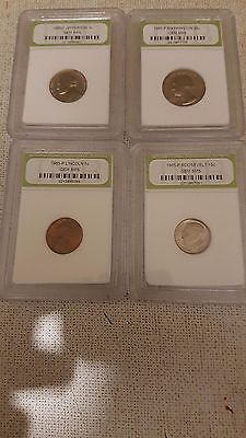 Us 1965 Four Coin Slabbed Special Mint Set
