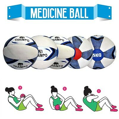 2KG Medicine Ball No Bounce Crossfit Extreme Strength Gym Fitness Boxing MMA.~